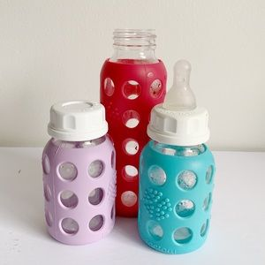 Lifefactory Glass/Silicone Baby Bottle Bundle
